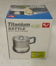 NEW Evernew Titanium Ultralight 600 ml Tea Pot w/Lid ECA317