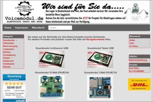 Blitzversand aus D für Modellbau usw MP3 Kopfh.//Lautspr Soundmodul FN-M981