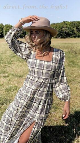 TOPSHOP Lime Green Textured Square Neck Midi Dress Sizes UK 6/_8/_10/_12/_14/_16