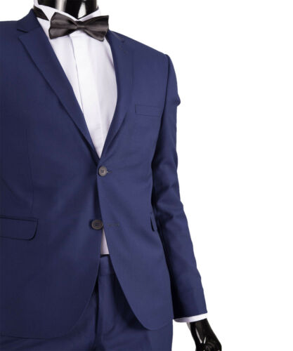 Grey Black Tuxedo Suit Wedding Stage Mens Suit in Blue Dark Blue