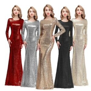 151eeba49f0 Details about Plus Size Gold Sequins Mother Of The Bride Dresses Wedding  Formal Prom Ball Gown