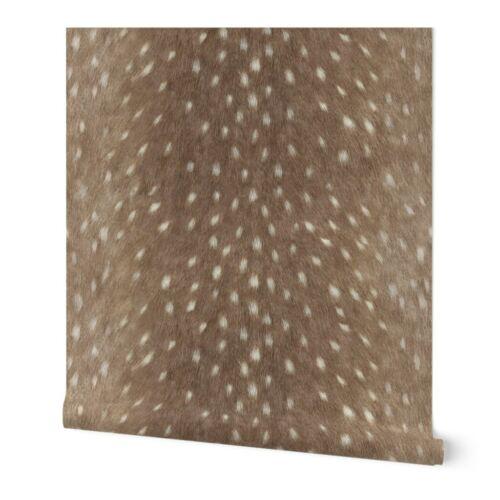 Wallpaper Roll or Sample Deer Hide Skin Sfaut15