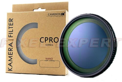 FILTRO CAMDIOX  NATURAL DENSITY ND FADER VARIABILE ND4 ND1000 82MM ND16