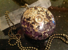 Powerful Amethyst Orgone Orgonite Pendant