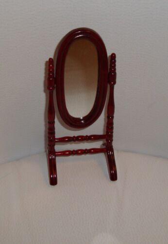 Sa maison de poupées miniature tall ovale cheval miroir