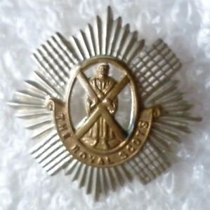 Badge British Army The Royal Scots The Royal Regiment Cap Genuine 2 Lugs - ilford, Essex, United Kingdom - Badge British Army The Royal Scots The Royal Regiment Cap Genuine 2 Lugs - ilford, Essex, United Kingdom