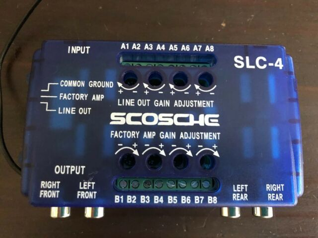 Scosche SLC4 Speaker Level Converter With 80 Watt Max