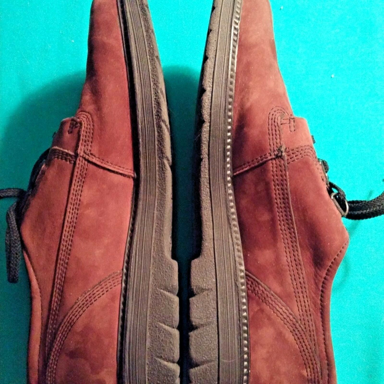 ECCO Donna  9 EU40 Brown Suede Oxford Shoes 3 Eye Eye 3 Lace-Up Portugal Rubber Sole d014a4