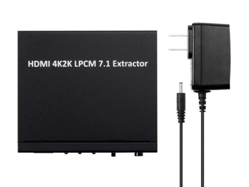 HDMI 7.1-Channel Extractor to Digital Optical SPDIF Audio Converter //w 4x TRS