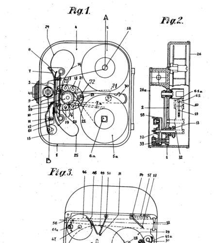 Bolex Old cinematographic camera//objective Paillard History 1922-70