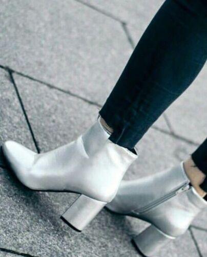 lucida sintetica pelle Scarpe 36 in tacco Eur con Chelsea Zara wqffXFY