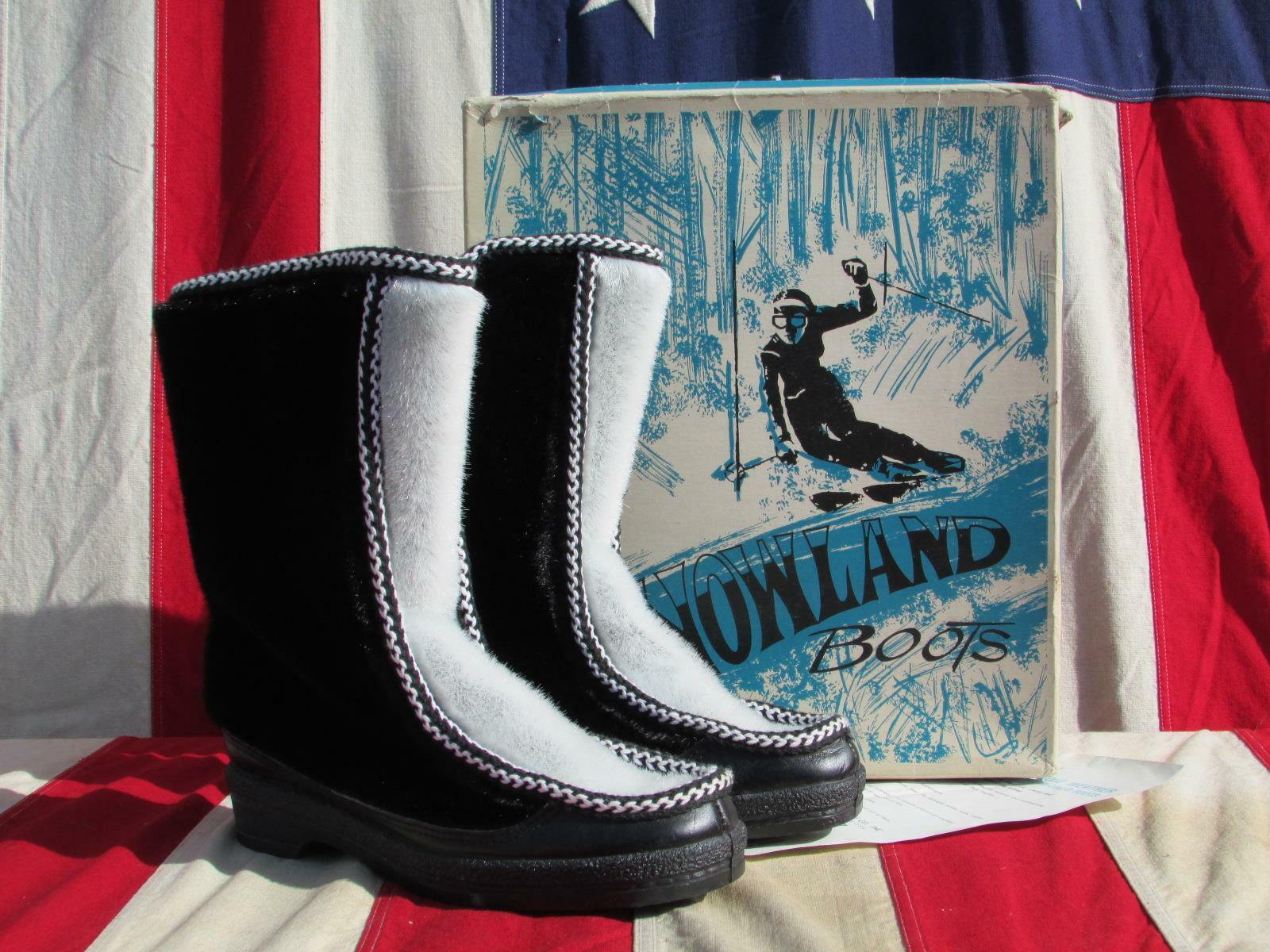 Vintage Snowland Inverno Inverno Inverno Ski Lodge botas Nos W Box Sz.7 Robert zapatos Co. Nh  barato en alta calidad