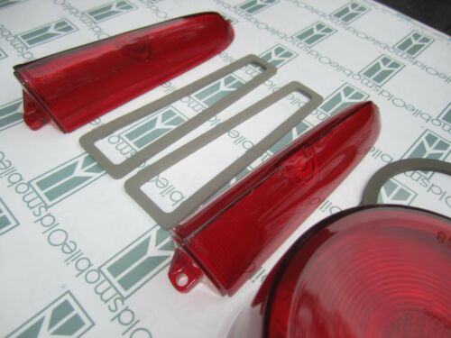1958 Oldsmobile Super 88 98 Complete Tail Light Lenses with Gaskets Kit