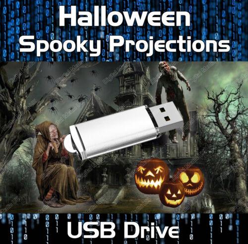 Effrayant Halloween 2 Projection numérique Parti Décoration USB
