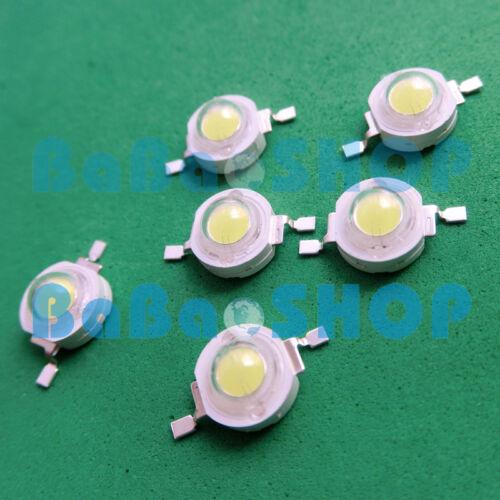 10pcs ~500pcs 3W 45mil Pure White 6000K~6500K LED Lamp Beads Light Bulb Aquarium