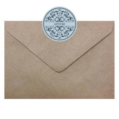 "4.1//2/"" x 6.3//8/"" 100 gsm envelopes FREE p/&p Ribbed Kraft C6//A6 114mm x 162mm"