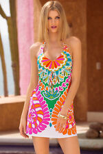 e71e292697427 Trina Turk Tamarindo Floral Paisley Mini Dress Swimsuit Cover up S ...