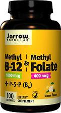 Jarrow Methyl B-12 1000 µg + Methyl Folate 400µg 100 + Vitamin B6 1,5 mg
