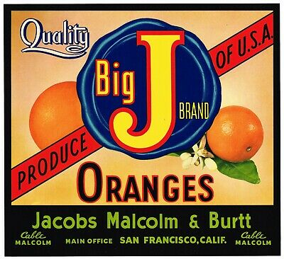 ANACO~ORIGINAL 1940s PEAR FRUIT CRATE EXPORT LABEL~SAN FRANCISCO to AUSTRALIA