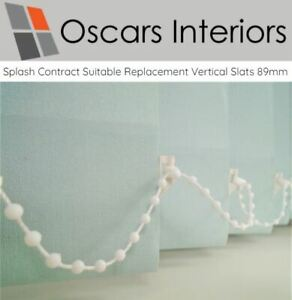 Vertical Blind Replacement SLATS  89mm 3.5 inch Slats  60 NEW COLOURS AVAILABLE