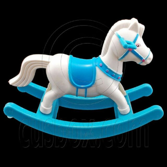 Blue Rocking Horse Swing Chair 1/6 Barbie Kelly Doll's House Dollhouse Furniture