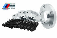 4 - Bmw Wheel Spacers Staggered Kit (4) 20mm 5x120 | W/20 12x1.5 Black Bolts
