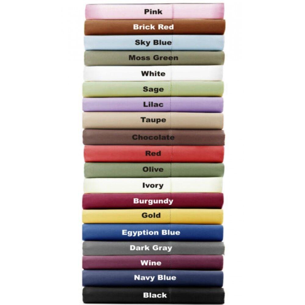 Unique 1000 Count 4 PC Sheet Set Twin-XL Size 100%Cotton Select color