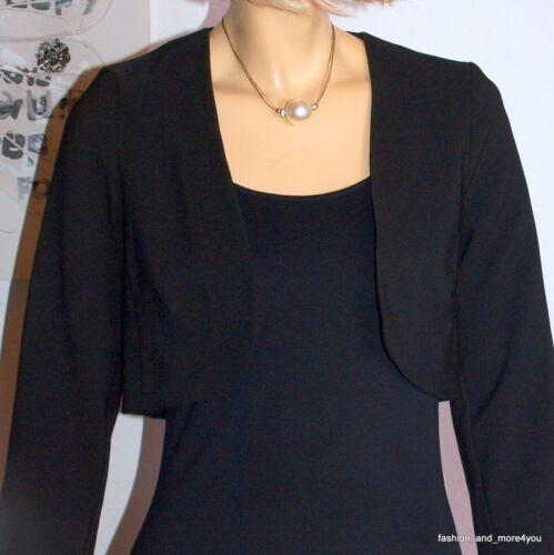 38 Blazer Cs Blazer Nuovo nero corto elegante Bolero Nero Biba Gr ஜ 074 aRqHUw
