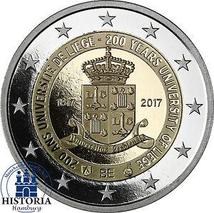Belgien-2-Euro-Gedenkmuenze-2017-PP-200-Jahre-Universitaet-Luettich-Muenze-in-Etui
