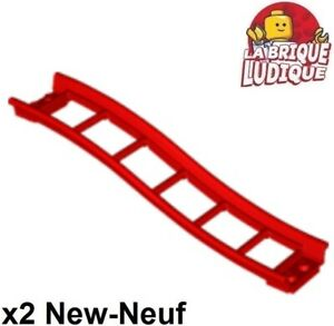 Lego-2x-train-rail-track-roller-coaster-rampe-ramp-small-vague-rouge-red-34738
