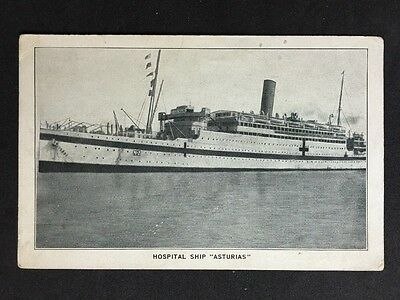 "Vintage Postcard - RP Military #19 - Hospital Ship ""Asturias"""