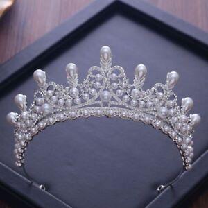 Crystal-Tiara-Bride-Bridal-Crown-Hair-Princess-Pearl-Headband-Rhinestone-Wedding