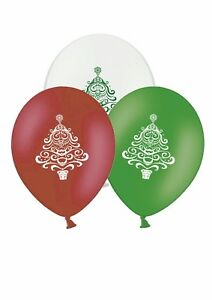 Christmas-Tree-Mix-12-034-Printed-Latex-Asst-Balloons-By-Party-Decor-pack-of-25