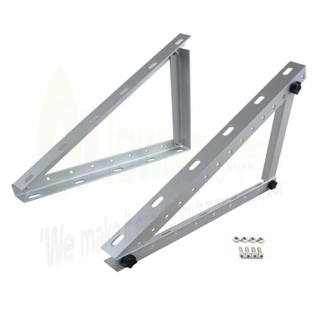 Lowenergie Adjustable Angle Solar Panel Mounting Brackets Frame Shed ...
