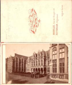 Belgique-Liege-le-Palais-Vintage-CDV-albumen-carte-de-visite-Cornelisse-Bru