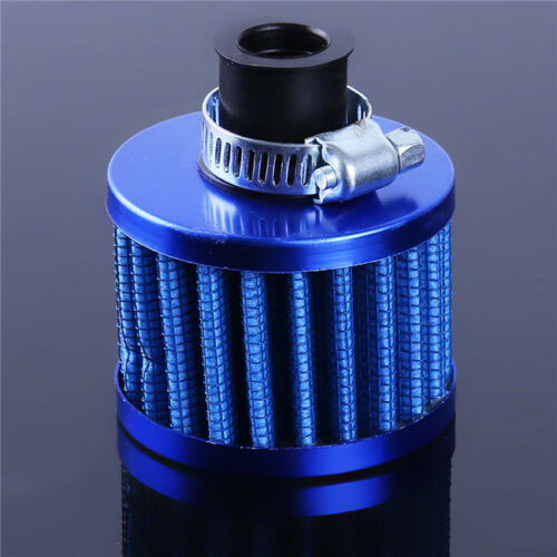 12mm Blue Round Crank Case Engine Breather Air Oil Filter Car Motorcycle D