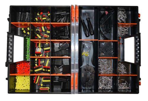 AMP Superseal Sortimentskoffer mit 887 Teilen Stecker Set KFZ Motorrad LKW QUAD