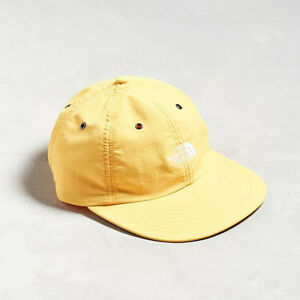cd2f21ed THE NORTH FACE THROWBACK TECH CAP 6-Panel HAT Nylon Wide Brim Yellow ...