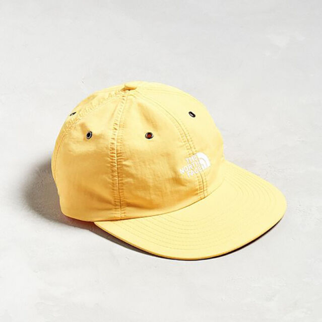 c880bbe7 THE NORTH FACE THROWBACK TECH CAP 6-Panel HAT Nylon Wide Brim Yellow supreme