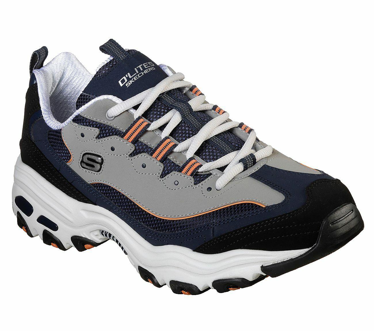 marca Skechers Skechers Skechers Dlites Navy scarpe Uomo Memory Foam Sport Comfort Casual Train Walk 52675  liquidazione