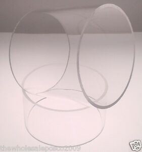 160MM-X-3MM-ACRYLIC-PERSPEX-CLEAR-PLASTIC-TUBE-500MM-LONG-SECTIONS