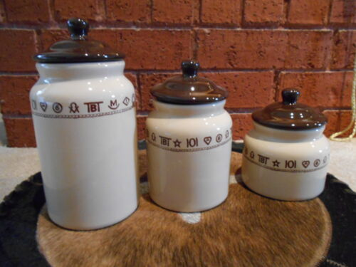 WESTERN CANISTER SET BRANDED DESIGN WESTERN DISHES WESTERN KITCHEN RODEO