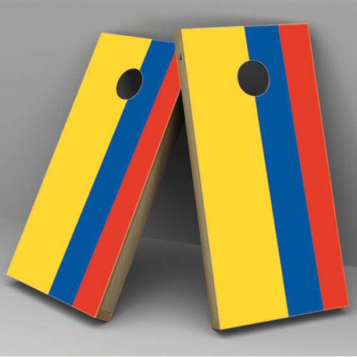 Colombia Flag Cornhole Board Vinyl Sticker Wrap