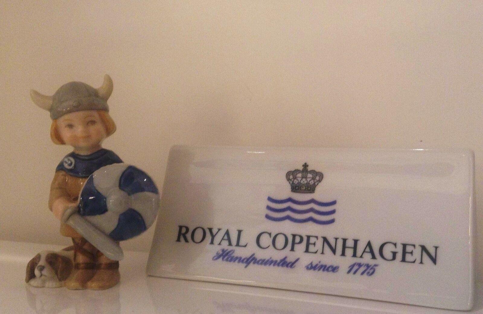 Royal Knud Copenhagen Figurine - Knud - Knud Royal Boy playing Viking - Royal Copenhagen fc0995