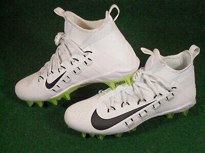Nike Alpha Huarache 6 Elite LAX Lacrosse Football Cleats White Black Volt Gray | eBay