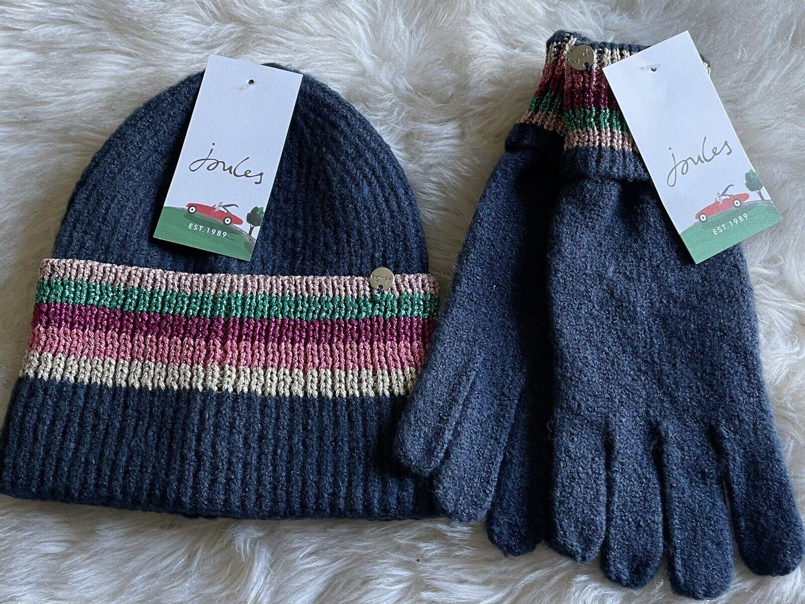 ⭐️ BNWT Joules Hat / Glove Set - Vinnie - Navy - Lovely Gift ⭐️