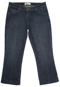 Levi-Strauss-Womens-Jeans-Low-Rise-Boot-Cut-Stretch-Dark-Denim-Hemmed-Size-12-M