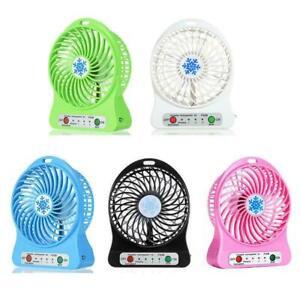 Mini Desk Fan Portable Small Cooling USB Cordless Cute 1. x Battery Seller L7H5