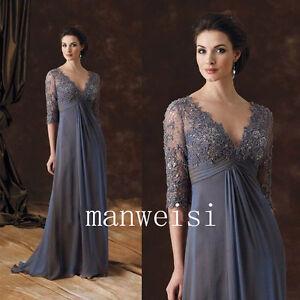 c563eb130009b Lace Applique Plus Size Mother Of The Bride Dresses Long Evening ...