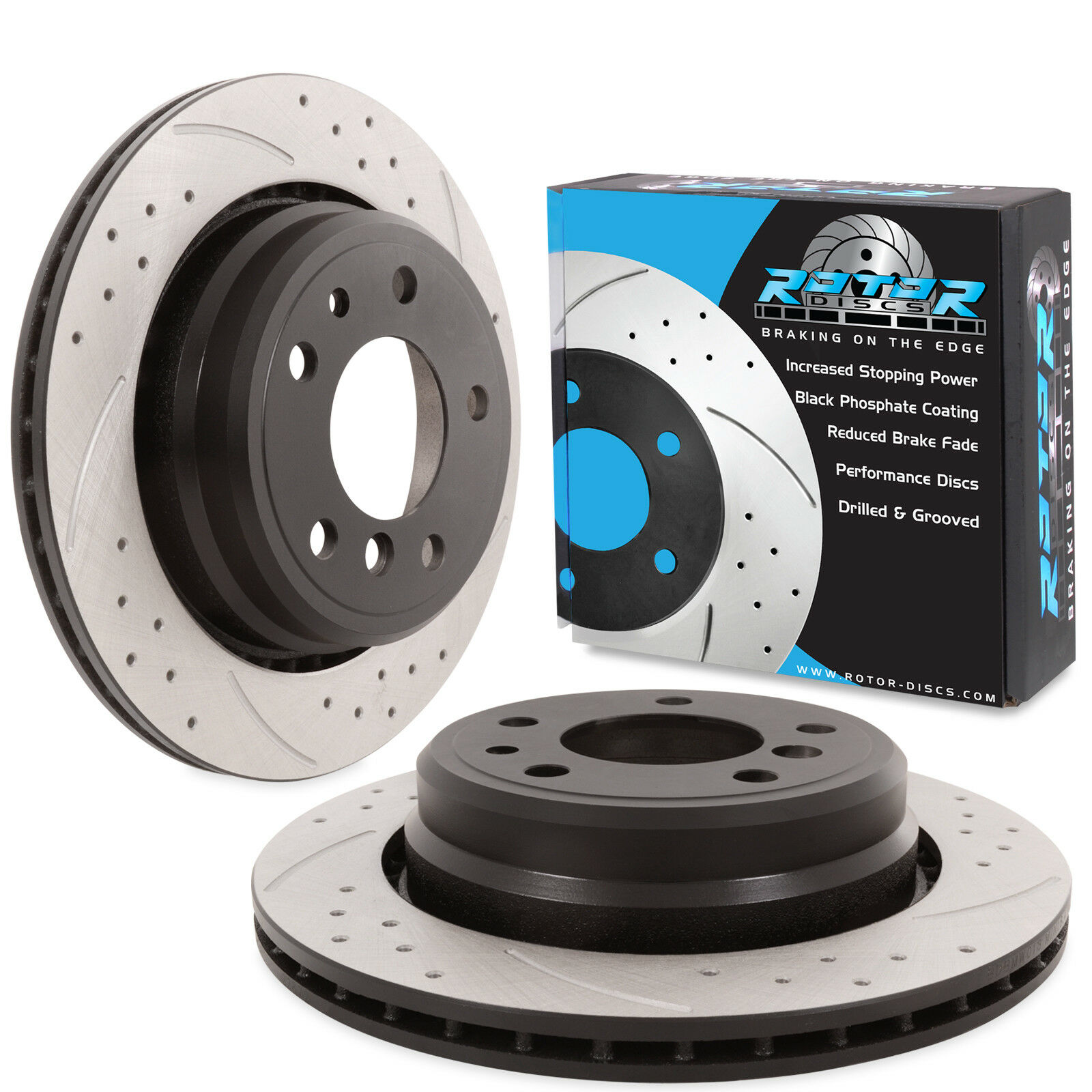 Rear Drilled Grooved 298mm Brake Discs For Bmw 5 Series E39 540i 540 530d 528 535